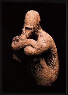 Statuette en terre cuite, provenant de fouilles