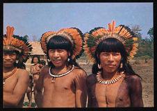 Indios do Brasil. Tribo Xavante - Mato Grosso (Leste)