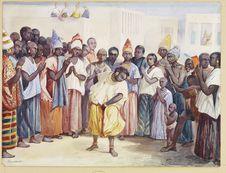 Signares assistant à une scène de danse à Gorée