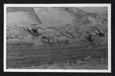 Pérou, Pachacamac, mur d'adobes