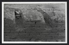 Pérou, Pachacamac, murs d'adobes