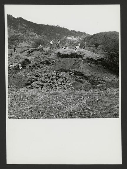 Canillá, Los Cerritos, pyramide 1 au début des travaux de dégagement