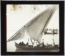 Le Nil au Caire, Barque