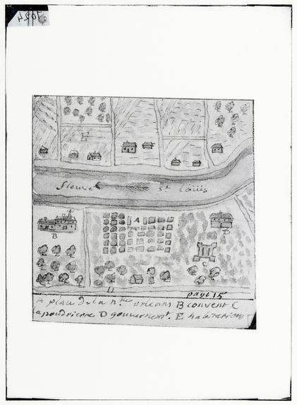 Fleuve St Louis à la Nouvelle Orléans en 1719