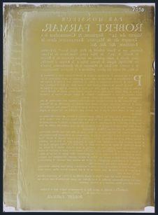 Traité de paix par Mr Robert Farmar 1763