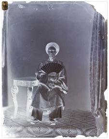 Ambassade Cochinchinoise à Paris- 1863 [Portrait de face d'un homme assis sur...