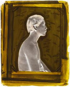 Suriname  [Portrait de profil, en buste, d'un jeune homme]
