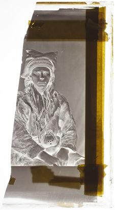 Lapon [Portrait d'un homme assis ; face et profil]