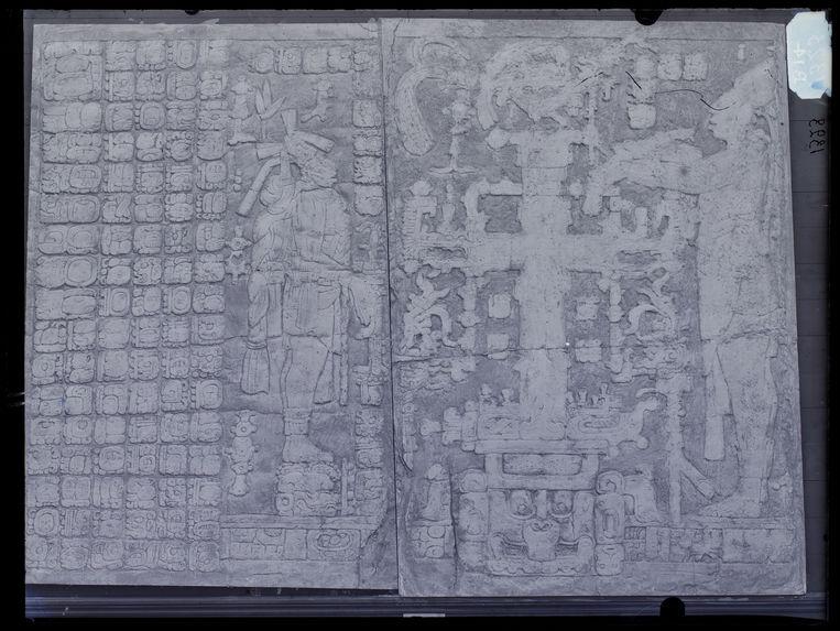 Palenque. Bas-relief du temple de la Croix