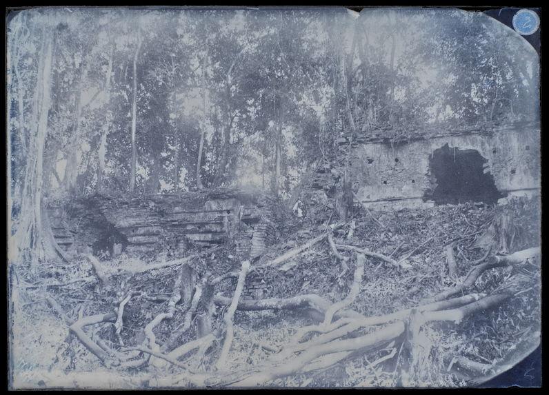 Palenque. Intérieur d'édifices en ruines