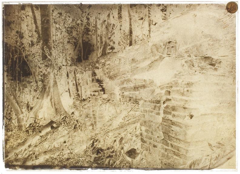 Palenque. Autel avec dalles sculptées