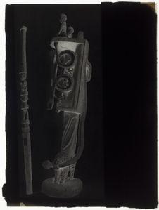 Bâton avec deux figures