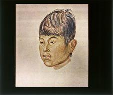 Sans titre [reproduction d'un dessin : portrait d'un jeune homme]