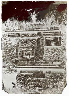 Palais des nonnes à Uxmal, bas-relief de l'indien