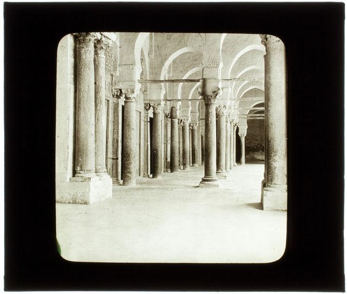 Kairouan. Intérieur du dôme de la Grande mosquée