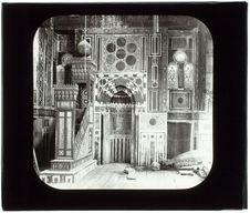Le Caire. Mosquée Bordem. Intérieur