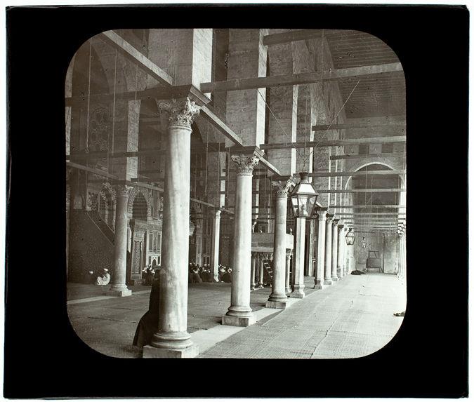 Le Caire. Mosquée Moherirt. Intérieur