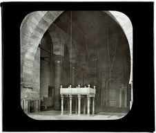 Le Caire. Mosquée Barkukyeh. Intérieur