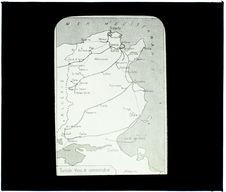 Tunisie. Réseau des chemins de fer