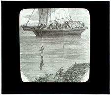 La pêche des éponges. La plongée