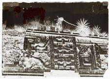 palais des nonnes à Uxmal, détail de la façade dite de la couleuvre