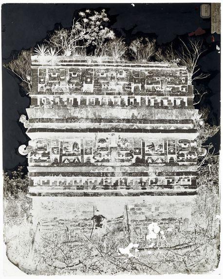Palais des Nonnes à Chichen-Itza, façade de l'aile gauche