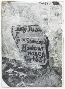 Anse Banner, île Picton ; inscription d'Allen Gardiner