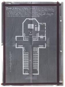 Plan du bâtiment de l'église paroissiale de La Louisiane