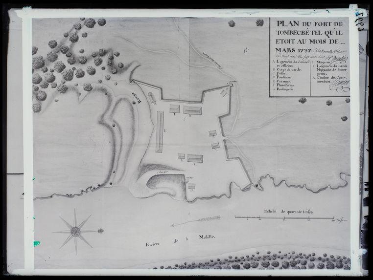 Plan du fort de Tombecbé, tel qu'il était au mois de Mars 1737