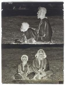 Homme de Négor (type Mekrani) et son jeune fils (la mère est négresse)