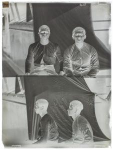 Deux hommes Ora Laut (face et profil) [portrait d'hommes]