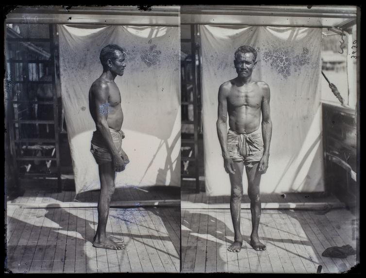 Homme Selo (face et profil)