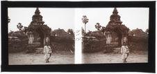 Luang Prabang : Portique de la pagode Vat Aran