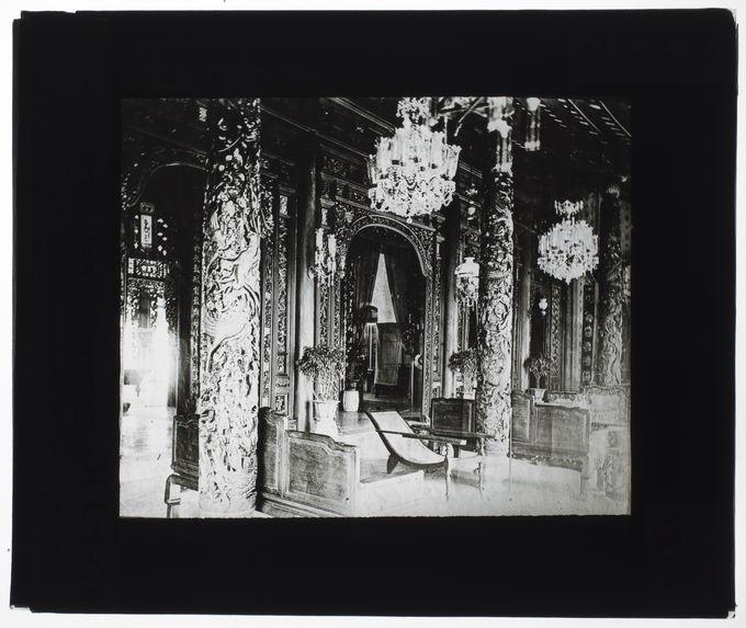 Intérieur de la maison d'un rich annamite, le Phu de Cholon