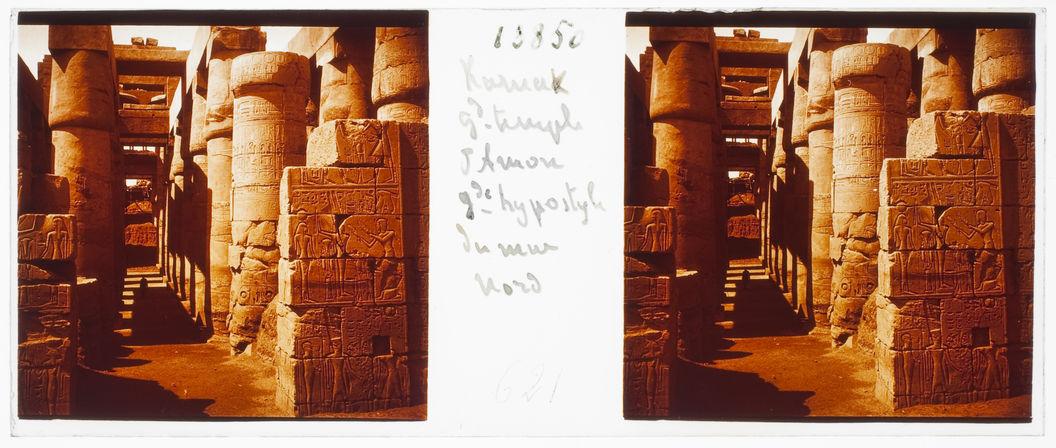 Karnak. Grand temple d'Amon. Grande hypostyle du mur nord