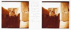 Karnak. Legrain faisant descendre architrave de la grande hypostyle