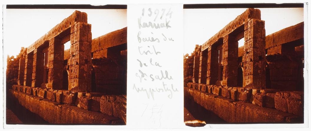 Karnak. Baies du toit de la grande salle hypostyle