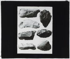 Silex taillés de Louxor et de la Medinet Abou d'après Haynes