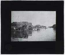 Village sur pilotis. Lagune de Cotonou