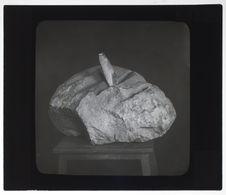 Polissoir préhistorique pour les haches en silex