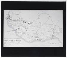 Carte de l'Afrique Occidentale Française