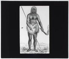 Menalaguerna portant le bâton de feu