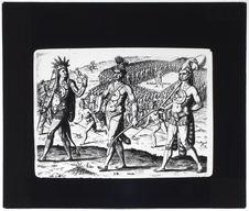Indiens parés d'ornements de métal [reproduction d'une gravure]