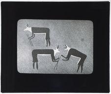 Peinture représentant des chasseurs d'antilopes