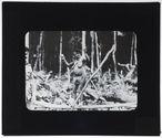 Femme Jais papou, essayant d'avoir du tabac des soldats