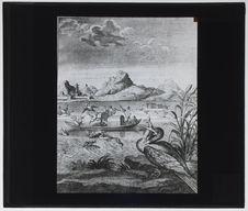 Chinois utilisant le cormoran pour la pêche [gravure]