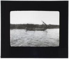Lac Nakoué (Porto-Novo). Pirogue