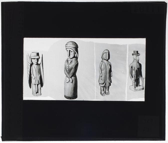 Sculptures sur bois des Indiens Cuna