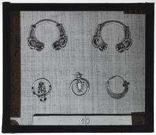 Paire de bracelets et pendants d'oreille