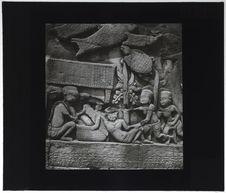 Bas-relief du Bayon. Scène d'accouchement